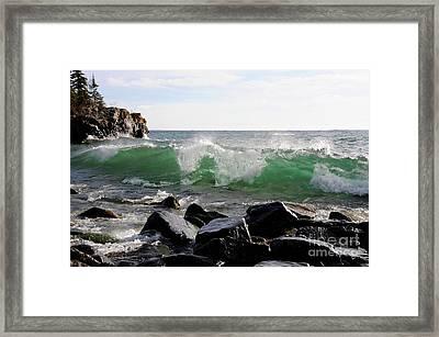 Dancing Waves Framed Print by Sandra Updyke