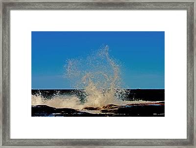 Dancing Waves Framed Print by Susan Vineyard