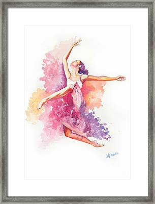 Dancing With Colors Framed Print by Cindy Elsharouni