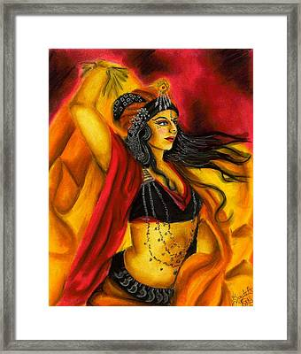 Dancing With Fire Framed Print by Scarlett Royal