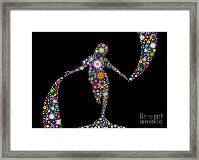 Dancing With Flowers Framed Print