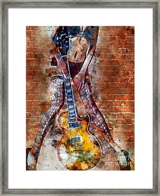 Dancing With Les Paul Framed Print by Jon Neidert