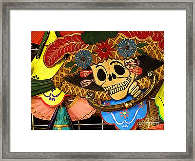 Dancing With The Dead Framed Print by Mexicolors Art Photography