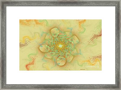 Dancing With The Spirits Framed Print by Deborah Benoit