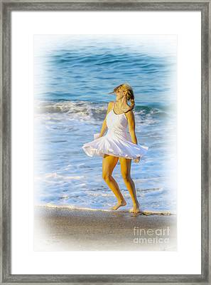 Dancing With The Waves Framed Print by Randy Steele
