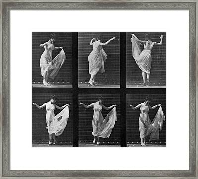 Dancing Woman Framed Print by Eadweard Muybridge