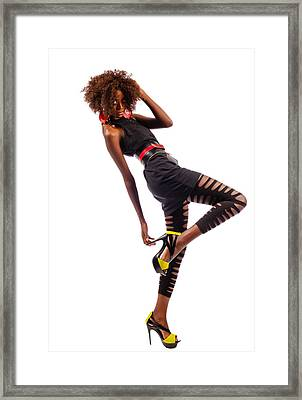 Dancing Woman Framed Print by Jim Boardman