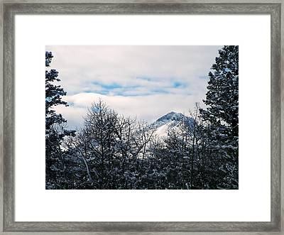 Dancing Woman Mountain In The Winter Framed Print