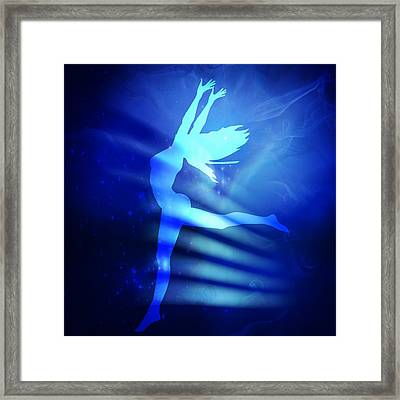Dancing Woman Framed Print by Serena King