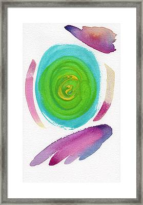 Framed Print featuring the painting Dandelion by Bee-Bee Deigner