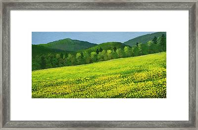 Framed Print featuring the painting Dandelion Bloom by Frank Wilson