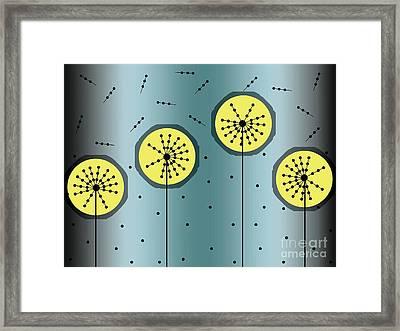 Dandelion Clock 2 Framed Print by Ankeeta Bansal