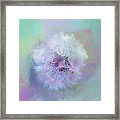 Dandelion In Pastel Framed Print