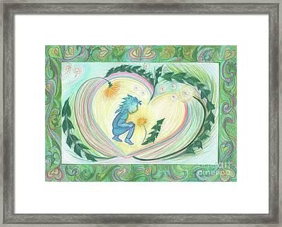 Dandelion Love 2  By Jrr Framed Print