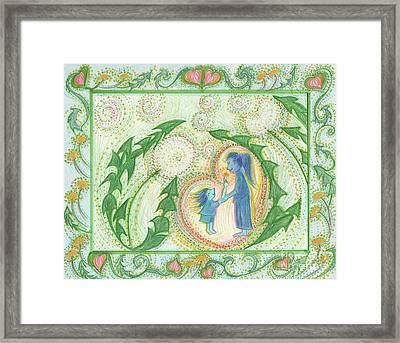 Dandelion Love 3 By Jrr Framed Print