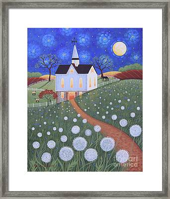 Dandelion Moon Framed Print