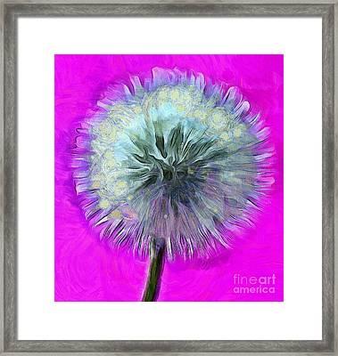 Dandelion Spirit Framed Print by Krissy Katsimbras