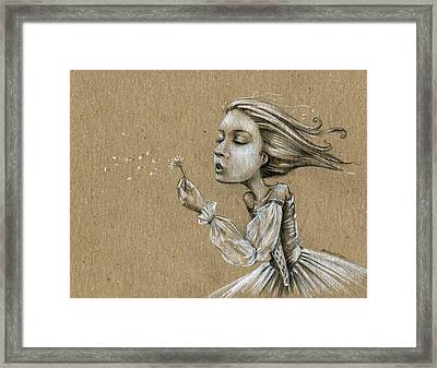 Dandelion Wishes Framed Print by Michael Scholl