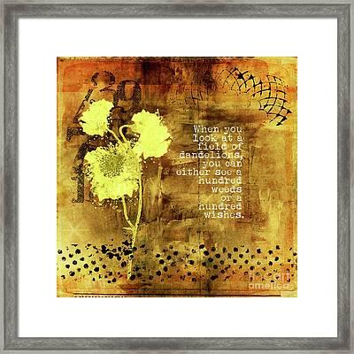 Dandelion Wishes Framed Print
