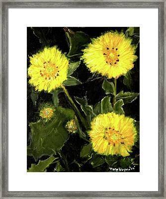 Dandelions By Mary Krupa  Framed Print by Bernadette Krupa