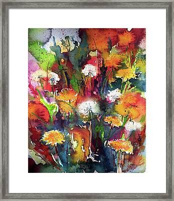 Dandelions Framed Print by Kovacs Anna Brigitta