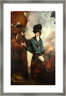 Dandy Captain Banastre Tarleton Framed Print by Sir joshua reynolds