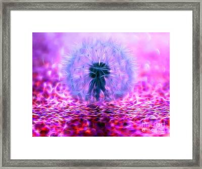 Dandy Magic Framed Print by Krissy Katsimbras