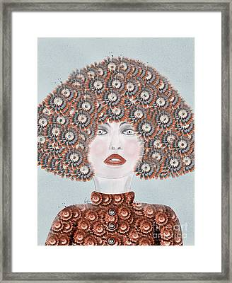 Framed Print featuring the painting Dandy Moo by Bri B