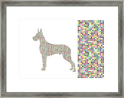 Dane Dots Framed Print by Brian Kirchner
