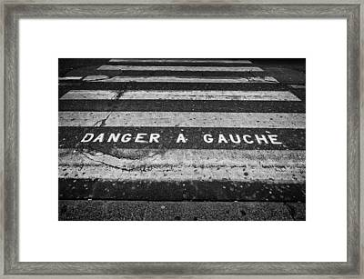 Danger A Gauche Framed Print by Pablo Lopez