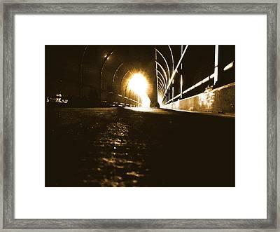 Danger Ahead Framed Print by Bryan Troger