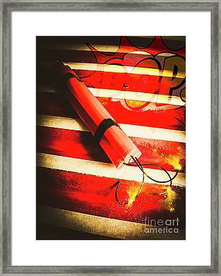 Danger Bomb Background Framed Print