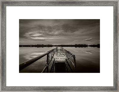 Danger Framed Print by Ca Photography