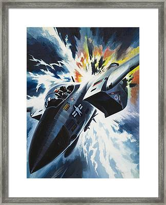 Danger From The Skies Framed Print