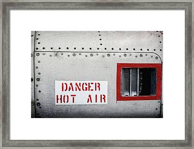 Danger Hot Air Framed Print