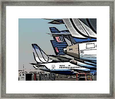 Danger-hot Exhaust Framed Print