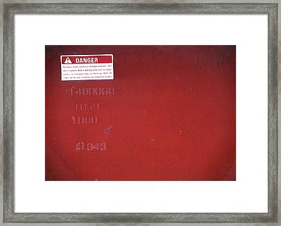 Framed Print featuring the photograph Danger by Kenneth Campbell