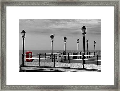 Danger - Lamp Posts Framed Print by Hazy Apple
