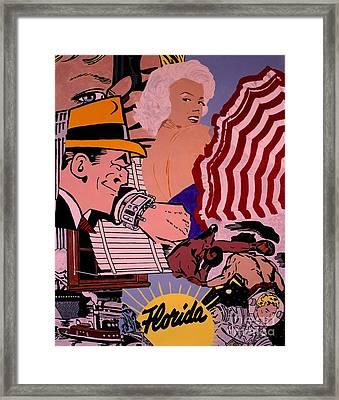 Danger Lurks Framed Print by Ralph LeCompte