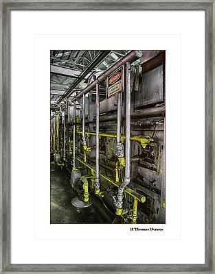 Danger Framed Print by R Thomas Berner