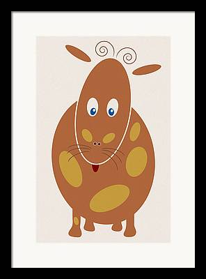 Baby Donkey Drawings Framed Prints
