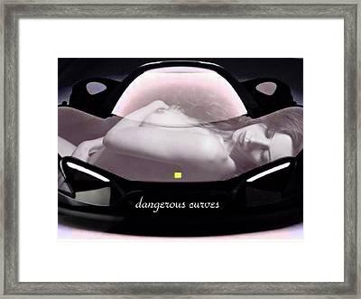 Dangerous Curves Framed Print