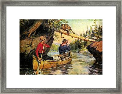 Dangerous Encounter Framed Print