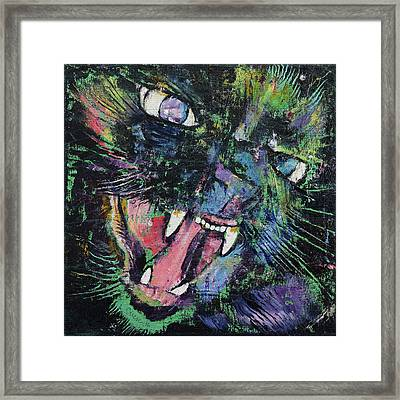 Ferocious Framed Print by Michael Creese