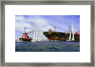 Dangerous Race Framed Print