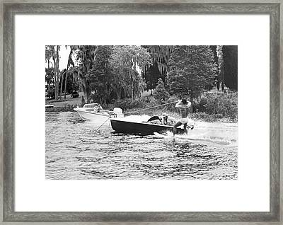 Dangerous Water Skiing Framed Print