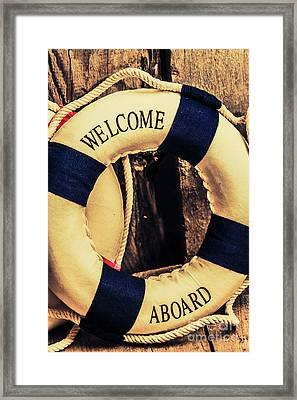 Dangers From Nautical Old Framed Print