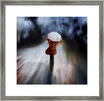 Dangers Of The Night Framed Print by Georgiana Romanovna