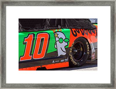 Danica Patrick Go Daddy Race Car Framed Print by Juergen Roth