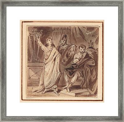 Daniel And Nebuchadnezzar Framed Print by Celestial Images